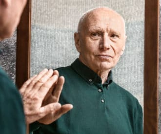 Seeing reflections in mirrors can be disturbing for someone with Alzheimer's or dementia